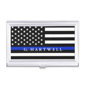Polizei redete amerikanische Flaggen-individuellen Visitenkarten Dose
