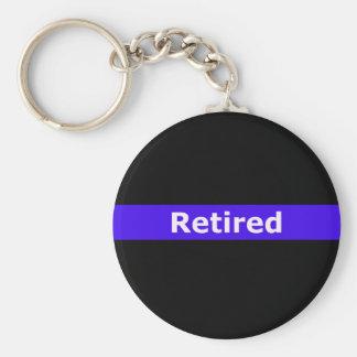 Polizei Retirted verdünnt Blue Line Schlüsselanhänger
