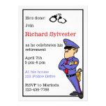 Polizei-Ruhestands-Party Einladung