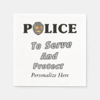 Polizei schützt sich und dient papierservietten
