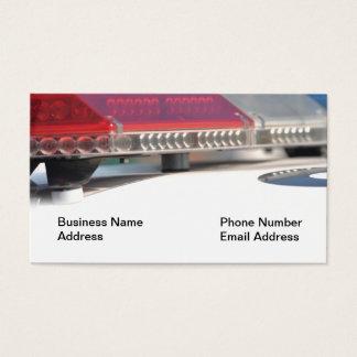 Polizei-Sirene-Lichter auf Auto-Visitenkarte Visitenkarte