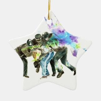 Polizei-Spritzer Keramik Stern-Ornament