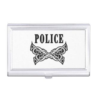 Polizei tätowiert visitenkarten dose