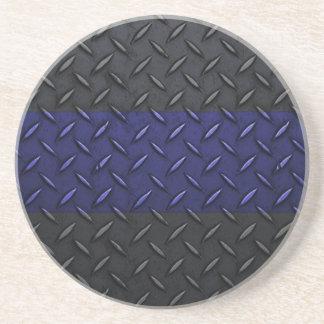 Polizei verdünnt Blue Line-Diamant-Platte Getränkeuntersetzer