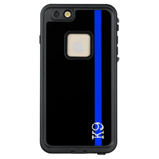 Polizei verdünnt Blue Line K9 oder weiße Initialen LifeProof FRÄ' iPhone 6/6s Plus Hülle