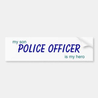 Polizeibeamte, mein Sohn ist mein Held Autoaufkleber
