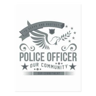 Polizeibeamte-Verpflichtung Postkarte