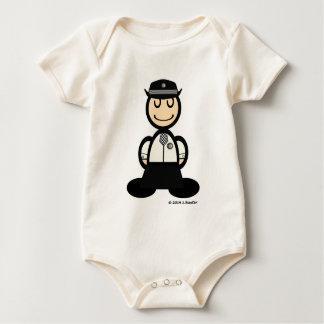 Polizeibeamtin (einfach) baby strampler