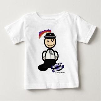 Polizeibeamtin (mit Logos) Baby T-shirt