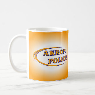 Polizeidienststelle-Becher Akrons Ohio Kaffeetasse