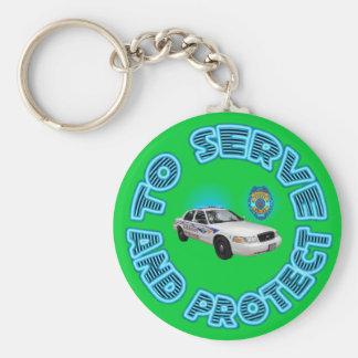 Polizeidienststelle Keychain. Akrons Ohio Schlüsselanhänger