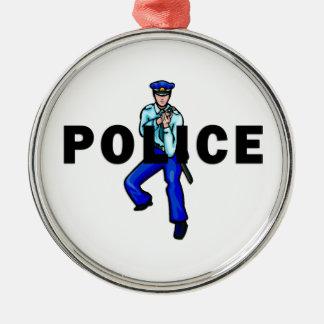 Polizeiliches Handeln Silbernes Ornament
