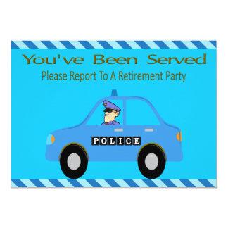 Polizeiwagen-Offizier-Ruhestands-Einladung 12,7 X 17,8 Cm Einladungskarte