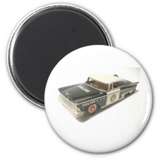 Polizeiwagen Runder Magnet 5,1 Cm