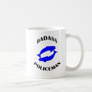 Polizist Badass Fische Tierkreis-Tassen-Geschenk Kaffeetasse
