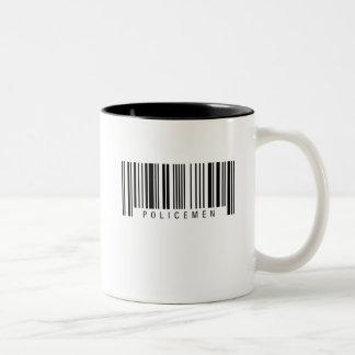 Polizist-Barcode Zweifarbige Tasse