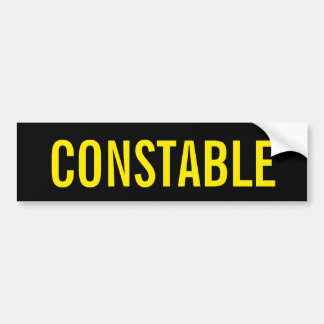 POLIZIST - goldenes gelbes Logo-Emblem Autoaufkleber