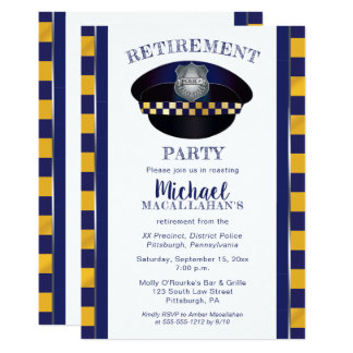 Polizist-Hut-Ruhestands-Party des Polizist-| der Karte