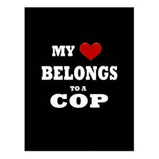 Polizist-Liebe Postkarten