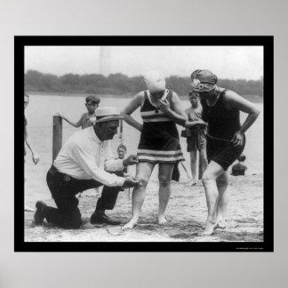 Polizist-messendes Badeanzug-Länge 1922