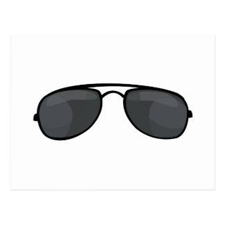 Polizist-Sonnenbrillen Postkarte