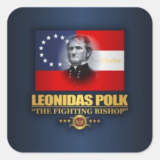 Polk (südlicher Patriot) Quadratischer Aufkleber