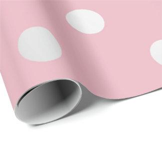 Polka-kleine Punkt-rosa Pulver erröten silbernes Geschenkpapier