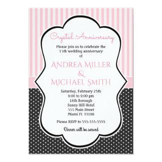 Polka laden Kristallc$all-jahre Hochzeitstag ein 12,7 X 17,8 Cm Einladungskarte