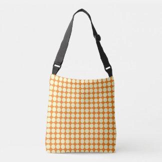 Polka-Punkt-Kreis-Punkt-Muster-orange Gelb Tragetaschen Mit Langen Trägern