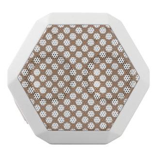 Polka-Punkt-modernes Retro abstraktes Muster TANs Weiße Bluetooth Lautsprecher