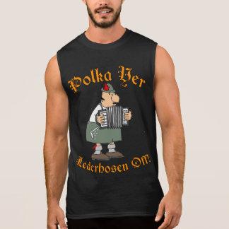 Polka-YERLederhosen weg! Ärmelloses Shirt