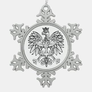 Polnische Eagle-Zinn-Verzierung Schneeflocken Zinn-Ornament