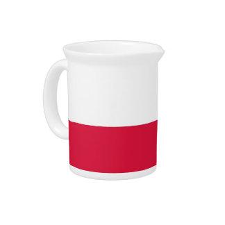 Polnische Flagge auf Krug