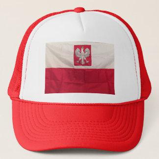 POLNISCHE FLAGGE UND EAGLE TRUCKERKAPPE