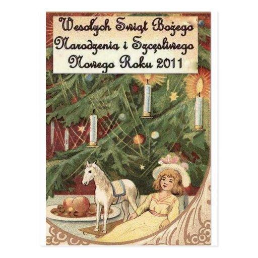 polnische frohe weihnachten wesolych swiat postkarte zazzle. Black Bedroom Furniture Sets. Home Design Ideas