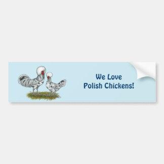 Polnische Spritzen-Hühner Autoaufkleber