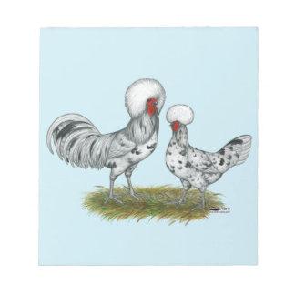 Polnische Spritzen-Hühner Notizblock