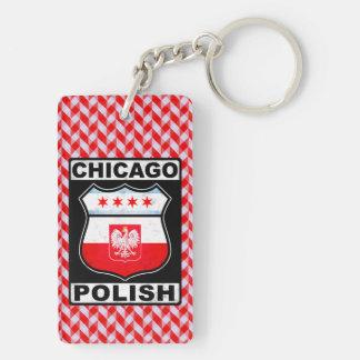 Polnischer amerikanischer Schlüsselring Chicagos