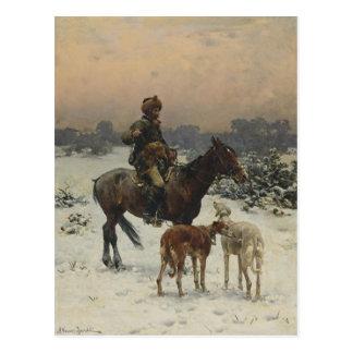 Polnischer Jäger zu Pferd Postkarte