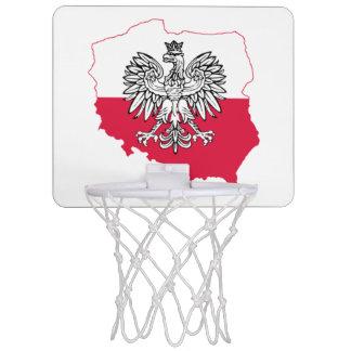 Polnischer Karten-Flaggen-Basketballkorb Mini Basketball Netz