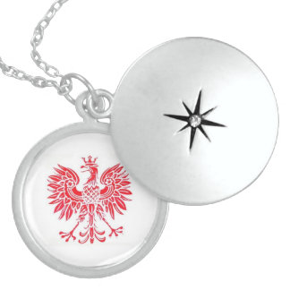 polnischer Locket Runde Medaillon Halskette