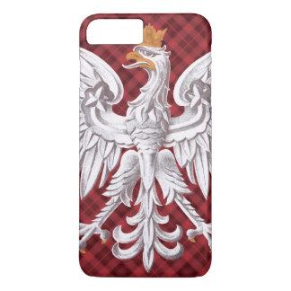 Polnischer weißer Adler kariert iPhone 8 Plus/7 Plus Hülle