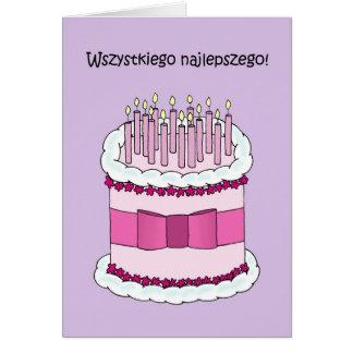 Polnisches alles Gute zum Geburtstag Karte