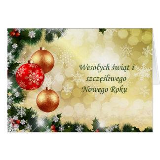 Polnisches Chrismas, neues Jahr - Flitter, Karte