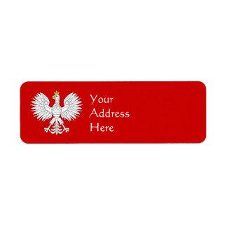 Polnisches Eagle Rücksendeetikett