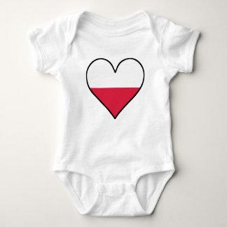 Polnisches Flaggen-Herz Baby Strampler