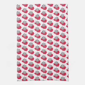 Polnisches Karten-Flaggen-Geschirrtuch Küchentuch
