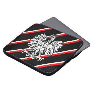 Polnisches stripes Flagge Laptopschutzhülle