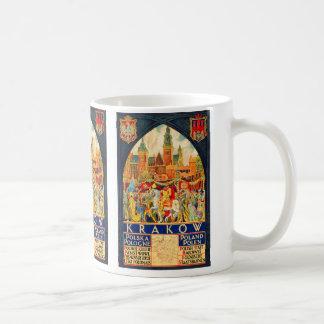 Polnisches Vintages Reise-Plakat Kaffeetasse