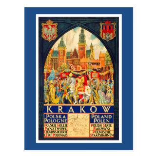 Polnisches Vintages Reise-Plakat Postkarte
